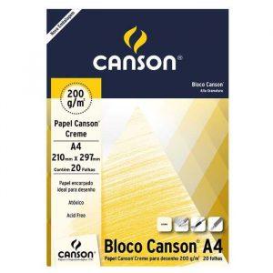 Bloco Canson Desenho Creme A4 200g