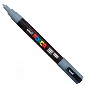 caneta-posca-fina-pc-3m-cinza