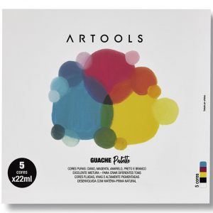 tinta-guache-palette-estojo-5-cores-tubo-22ml-artools